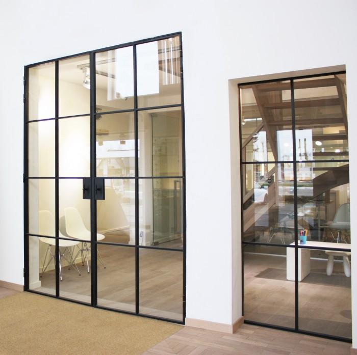 Glazen deuren in metalen profiel | D\'HONDT blog