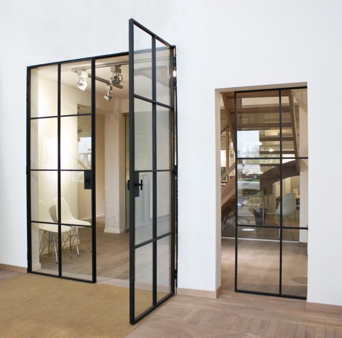Les portes en verre avec profil m tallique d 39 hondt blog - Afscheiding glas keuken woonkamer ...